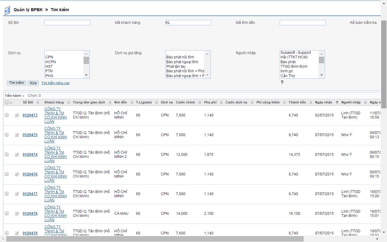 Tạo vận đơn trong phần mềm chuyển phát nhanh